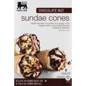 Food Lion Sundae Cones, Chocolate Nut, Box