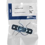 Pro Connex Strap, Two Hole, Steel EMT Conduit, 3/4 Inches