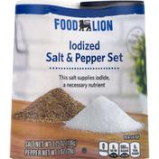 Food Lion Iodized Salt & Pepper Set