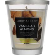 Aromascape Candle, Vanilla + Almond, Jar