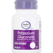 Signature Care Potassium Gluconate, Tablets