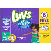 Luvs Super Absorbent Leakguards Size 6  Diapers