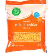 Food Club Shredded Cheese, Mild Cheddar