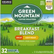 Green Mountain Coffee Roasters Coffee, 100% Arabica, Light Roast, Breakfast Blend, Decaf, K-Cup Pods