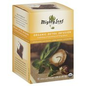 Mighty Leaf Tea, Organic Detox Infusion, Whole Leaf Pouches