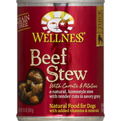Wellness Food for Dogs, Natural, Grain Free, Beef Stew, with Carrots & Potatoes