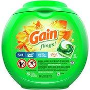 Gain Flings Laundry Detergent Pacs, Island Fresh