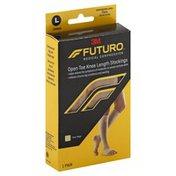 FUTURO Stockings, Open Toe Knee Length, Unisex, Nude, Large