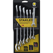 Stanley Wrench Set, Ratcheting Combination, 7 Pieces