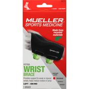 Mueller Wrist Brace, Fitted, Left, Maximum, Small/Medium