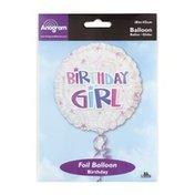"Anagram Foil Balloon 18"" Birthday Girl Swirls"