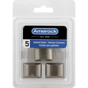 Amerock Cabinet Knobs, Satin Nickel, 1.25 Inches