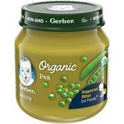 Gerber Organic Pea Baby Food