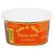Salsa De Wela Salsa, Fresh, Premium, Medium Chunky