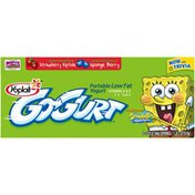 Yoplait Go-Gurt SpongeBob SquarePants Strawberry Riptide/Sponge Berry Variety Pack Portable Low Fat Yogurt
