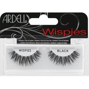Ardell Lashes, Black, Wispies