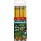 Ticonderoga Noir 2 Pencil - 18 CT