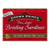 Crown Prince Two Layer Brisling Sardines In Soy Bean Oil