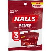 Halls Throat drops, Cherry Flavor