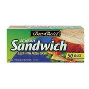 Best Choice Zip Lock Sandwich Bags