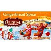 Celestial Seasonings Gingerbread Spice Holiday Tea Caffeine Free Herbal Tea Bags