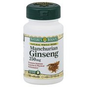 Nature's Bounty Ginseng, Manchurian, 250 mg, Rapid Release Liquid Softgels
