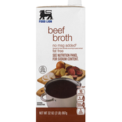 Food Lion Beef Broth, Fat Free