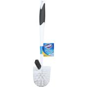 Clorox Toilet Bowl Brush, with Under Rim Scrubber