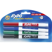Expo Dry Erase Markers, Low Odor Ink, Fine Tip