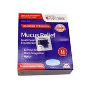Family Wellness Maximum-Strength 12-Hour Mucus Relief Tablets