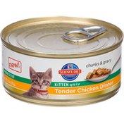 Hill's Science Diet Chunk & Gravy Kitten Tender Chicken Dinner Premium Cat Food