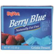 Hy-Vee Gelatin Dessert, Berry Blue
