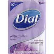 Dial Deodorant Soap,  Antibacterial, Lavender & Twilight Jasmine
