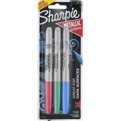 Sharpie Permanent Marker, Fine Point, Assorted Metallic Colors