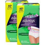 Always Discreet , Postpartum Incontinence Underwear, Maximum