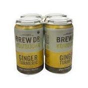 Brew Dr. Kombucha Ginger Turmeric Organic Kombucha