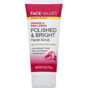 Harmon Face Values Facial Scrub, Polished & Bright, Orange & Pink Lemon