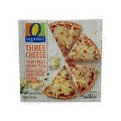 O Organics Three Cheese Thin Crust Organic Mozzarella, Provolone And Parmesan Pizza