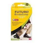Futuro Revitalizing Dress Socks for Men Moderate Large/Black