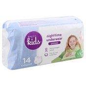 Basics For Kids Nighttime Underwear, Small/Medium (38-65 lb), Unisex