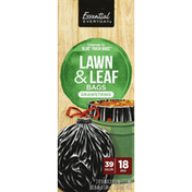 Essential Everyday Lawn & Leaf Bags, Drawstring, 39 Gallon