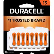 Duracell Batteries, Zinc Air, 13