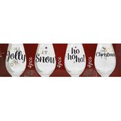 Signature Select Wine Glass, Stemless, Christmas