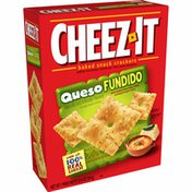 Cheez-It Baked Snack Cheese Crackers, Made with 100% Real Cheese, Queso Fundido