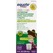 Equate Cetirizine Hydrochloride Oral Solution, Children's, 1 mg/ml, Grape Flavor