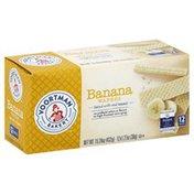 Voortman Wafers, Banana, 12 Packs