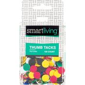 Smart Living Thumb Tacks, Vinyl Coated