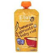 Ella's Kitchen Smooth Fruit Yogurt + Brown Rice, Bananas/Apricots + Baby Rice, Pouch