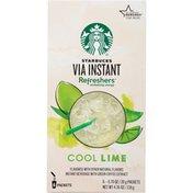 Starbucks Via Refreshers Cool Lime Instant Beverage