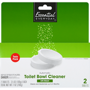 Essential Everyday Toilet Bowl Cleaner with Bleach, Automatic, Twin Pack